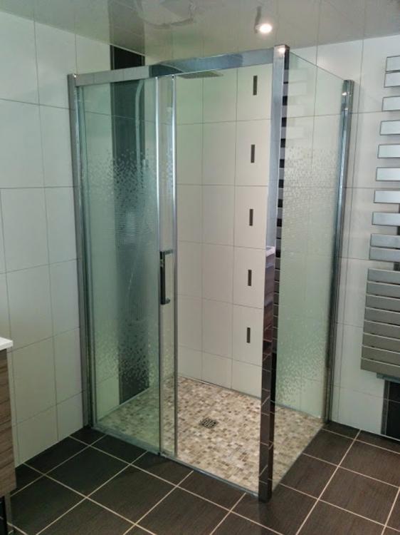 Cr ation salle de bain avec douche l 39 italienne le havre for Cout creation salle de bain